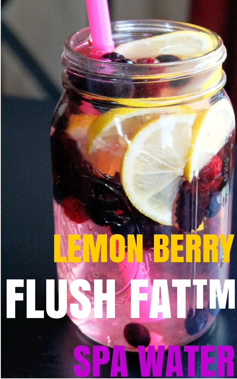 Lemon Berry Flush Fat Spa Detox Water