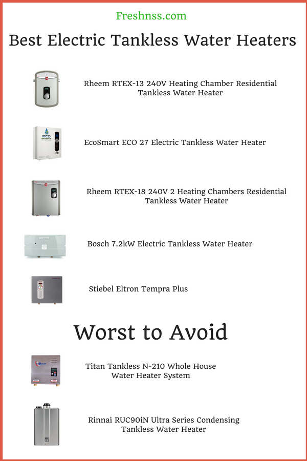 best electric tankless water heater reviews of 2019 | freshnss