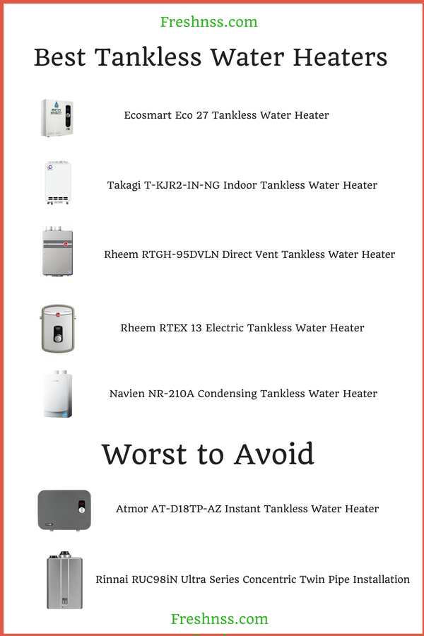 5 Best Tankless Water Heaters Plus 2 To Avoid 2020