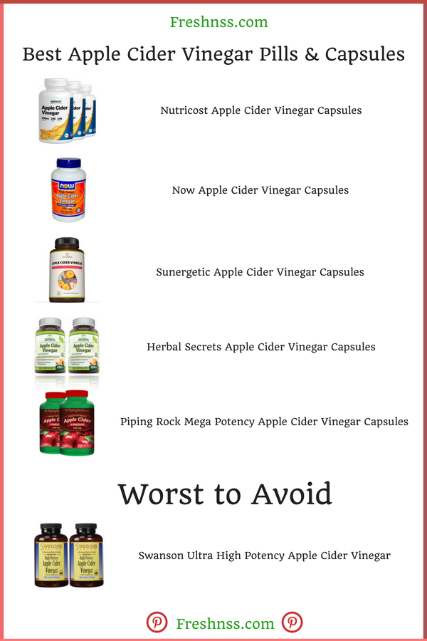 Best Apple Cider Vinegar Pills Capsules