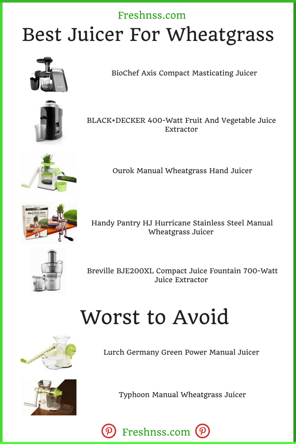 Best Juicer for Wheatgrass Reviews