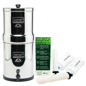 Big Berkey Water Filter System With 2 9-Inch White Ceramic Filters and 2 PF-4 Fluoride Filters Review