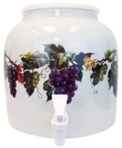 For Your Water 2.5 Gallon porcelain Grape Water Crock Review