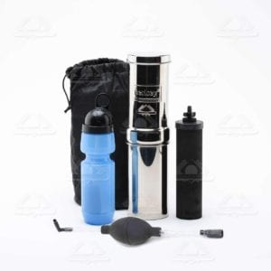 Go Berkey Kit -Includes Stainless Steel Portable Water Filter System with Sport Berkey Water Bottle (Filter included) and a Vinyl Black Carrying Case Review