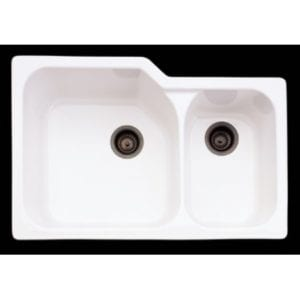 Rohl 33-Inch by 22 Inch 1-1/2 Bowl Allia Undermount Fireclay Kitchen Sink Review