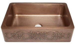 Sinkology SK303-33SC Farmhouse Ganku Copper Sink with Scroll Design Review