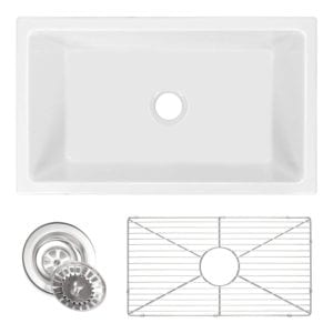 Zuhne Ostia Fireclay Farmhouse Apron White Reversible Kitchen Sink Review