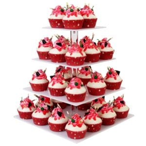 4-Tier Square Cupcake Stand by YestBuy Review