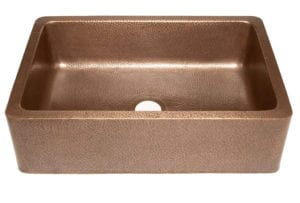 "Adams Farmhouse Apron Front Handmade Copper Kitchen Sink 33"" Single Bowl in Antique Copper by Sinkology Review"