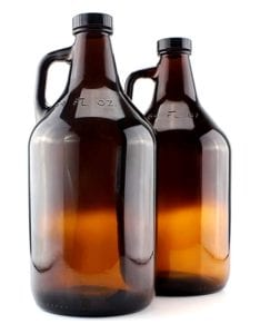 Amber Glass Growler Jugs 64-Ounce/Half Gallon 2-Pack with Black Phenolic Lids by Cornucopia Brands Review
