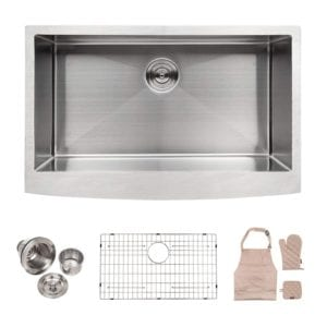 Apron Front 33-Inch Stainless Steel Undermount Kitchen Sink by Lordear Review