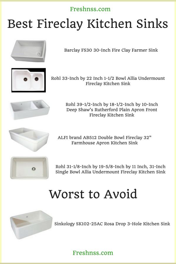 Best Fireclay Kitchen Sink