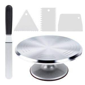 Cake Turntable Revolving Cake Decorating Stand, by Ohuhu Review