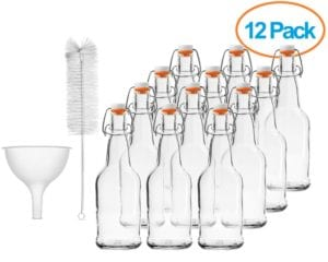 Chefs Star Case of Twelve 16 oz Easy Cap Bottles with Funnel and Cleaning Brush Review