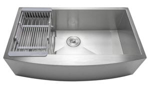 "Firebird 33"" x 22"" x 9"" Apron Farmhouse Handmade Stainless Steel Single Bowl Kitchen Sink Review"