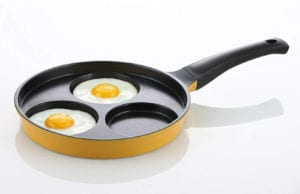 "Flamekiss 9.5"" Ceramic Coated Nonstick 3-Cup Egg Cooker Pan by Amore Kitchenware Review"