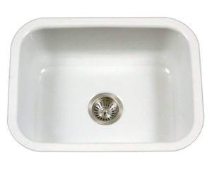 Houzer PCS-2500 WH Porcelain Series Porcelain Enamel Steel Undermount Single Bowl Kitchen Sink Review
