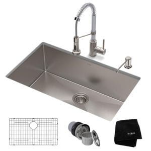 Kraus 30 Inch Standart PRO Single Bowl Kitchen Sink Review