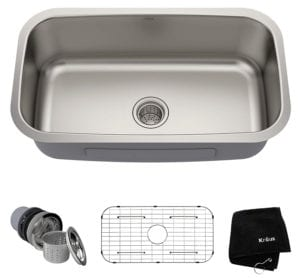 Kraus KBU14 Undermount Single Bowl 16 Gauge Stainless Steel Kitchen Sink Review