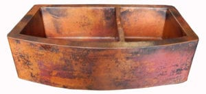 Rounded Apron-Front Farmhouse Kitchen Double Bowl Mexican Copper Sink by Color y Tradicion Review