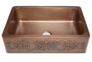 Sinkology SK303-33SC Farmhouse Single Bowl Copper Kitchen Sink with Scroll Design Review