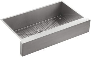 Undercounter Single Basin Stainless Steel Sink with Shortened Apron-Front for 36-Inch Cabinet by Kohler Review