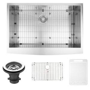 Vigo 36-Inch Single Bowl 16 Gauge Stainless Steel Farmhouse Apron Front Kitchen Sink Review
