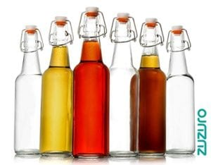Zuzoro Glass Kombucha Bottles for Home Brewing 16 oz Clear Glass Grolsch Bottles Case of 6 with Easy Swing Top Cap with Gasket Seal Tight by Zuzuro Review
