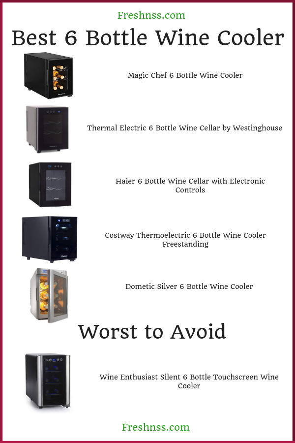Best 6 Bottle Wine Cooler