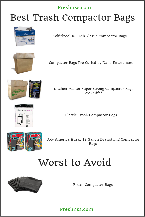 Best Trash Compactor Bags