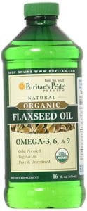 Organic Flaxseed Oil Cold Pressed by Puritans Pride Review