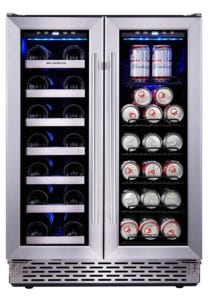Phiestina Built-In Dual Zone Wine and Beverage Cooler with Stainless Steel French Door Review