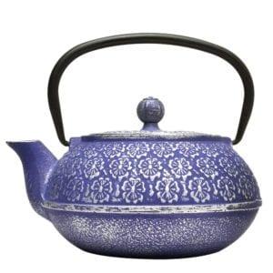 Blue Floral Cast Iron Teapot by Primula Review