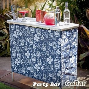 GoPong Portable High Top Party Bar Table with Shelf Review