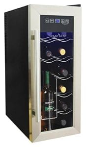 NutriChef 12 Bottle Thermoelectric Wine Cooler Counter Top Wine Cellar Review