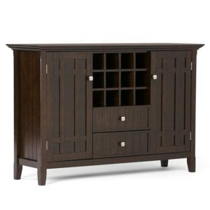 Simpli Home Bedford Solid Wood Sideboard Buffet Wine Rack Review