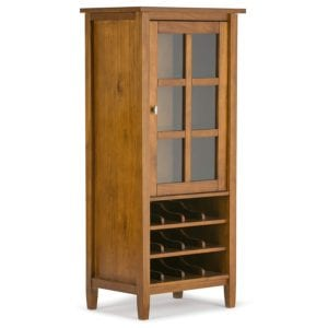 Simpli Home Warm Shaker Solid Wood High Storage Wine Rack Review