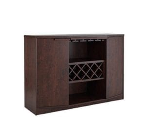 Wine BAR Buffet and Storage Cabinet with Center Glass and Wine Rack Review