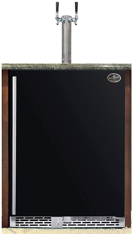 Beer Meister Dual Tower with Black Door Built-In Kegerator Premium Series Review