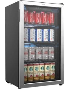 HomeLabs Beverage Refrigerator and Cooler 120 Can Mini Fridge with Glass Door Review