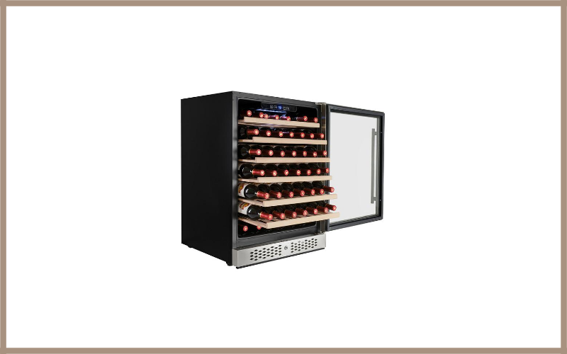 AKDY 54 Bottles Single Zone Built In Compressor Freestanding Touch Control Panel Freestanding Wine Cooler Cellar Review