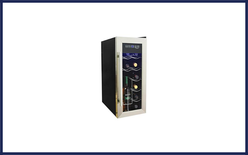 Nutrichef 12 Bottle Thermoelectric Wine Cooler Counter Top Wine Cellar