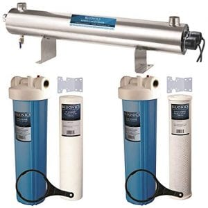 Bluonics 110W UV Ultraviolet + Sediment & Carbon Well Water Filter Purifier System