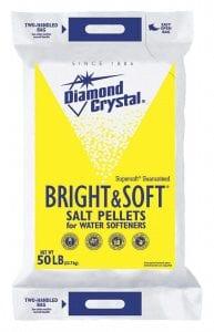 Diamond Crystal 50 lb. Water Softener Salt, Bright & Soft Series, Pellets