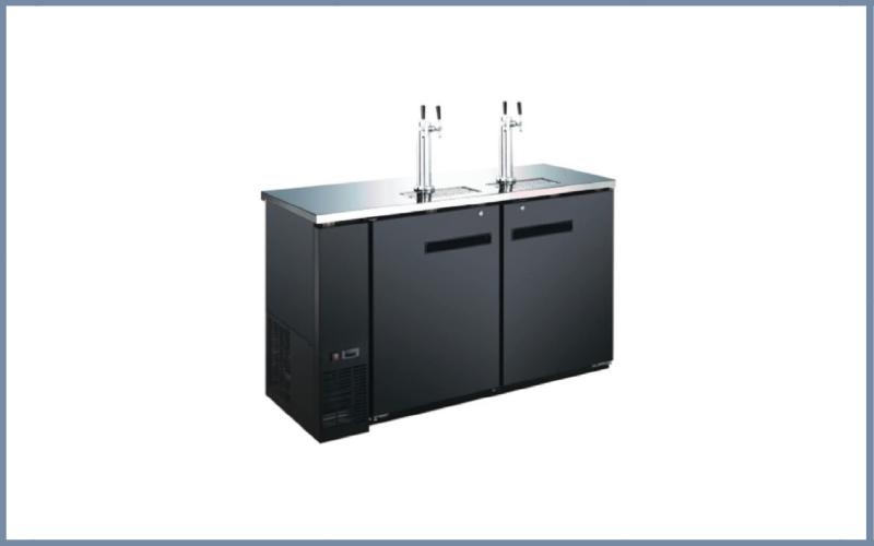 60″ 2 Door 4 Tap Commercial Beer Dispenser Refrigerator Keg Cooler Kegerator Review