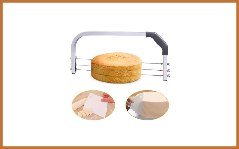 Bonviee Adjustable Cake Leveler Professional Layer Slicer Cutter 3 Blades Stainless Steel Review