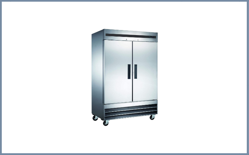 Vortex Refrigeration Refrigerator 2 Solid Door Commercial Stainless Steel Review