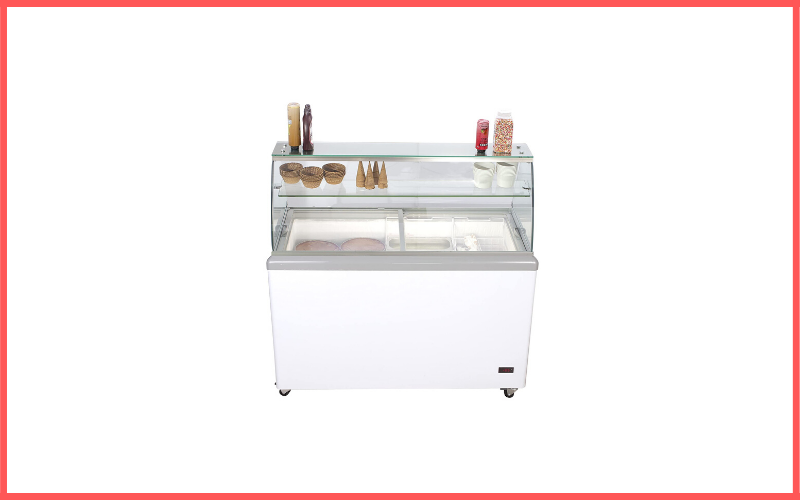 Chefs Exclusive Commercial 8 Flavor Frost Free Ice Cream Dipping Cabinet Case Sub Zero Freezer Review