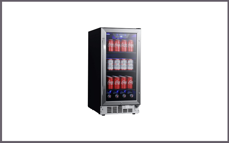 EdgeStar CBR902SG 15 Inch Wide 80 Can Built-In Beverage Cooler with Blue LED Lighting Review