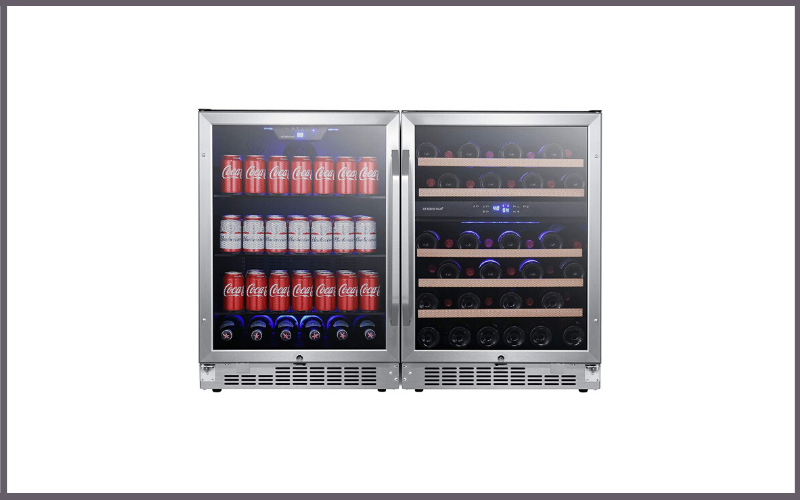 EdgeStar CWBV14246 48 Inch Wide 46 Bottle 142 Can Built-In Side-by-Side Wine and Beverage Center Review